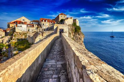Ringmuren i Dubrovnik – en populär sevärdhet
