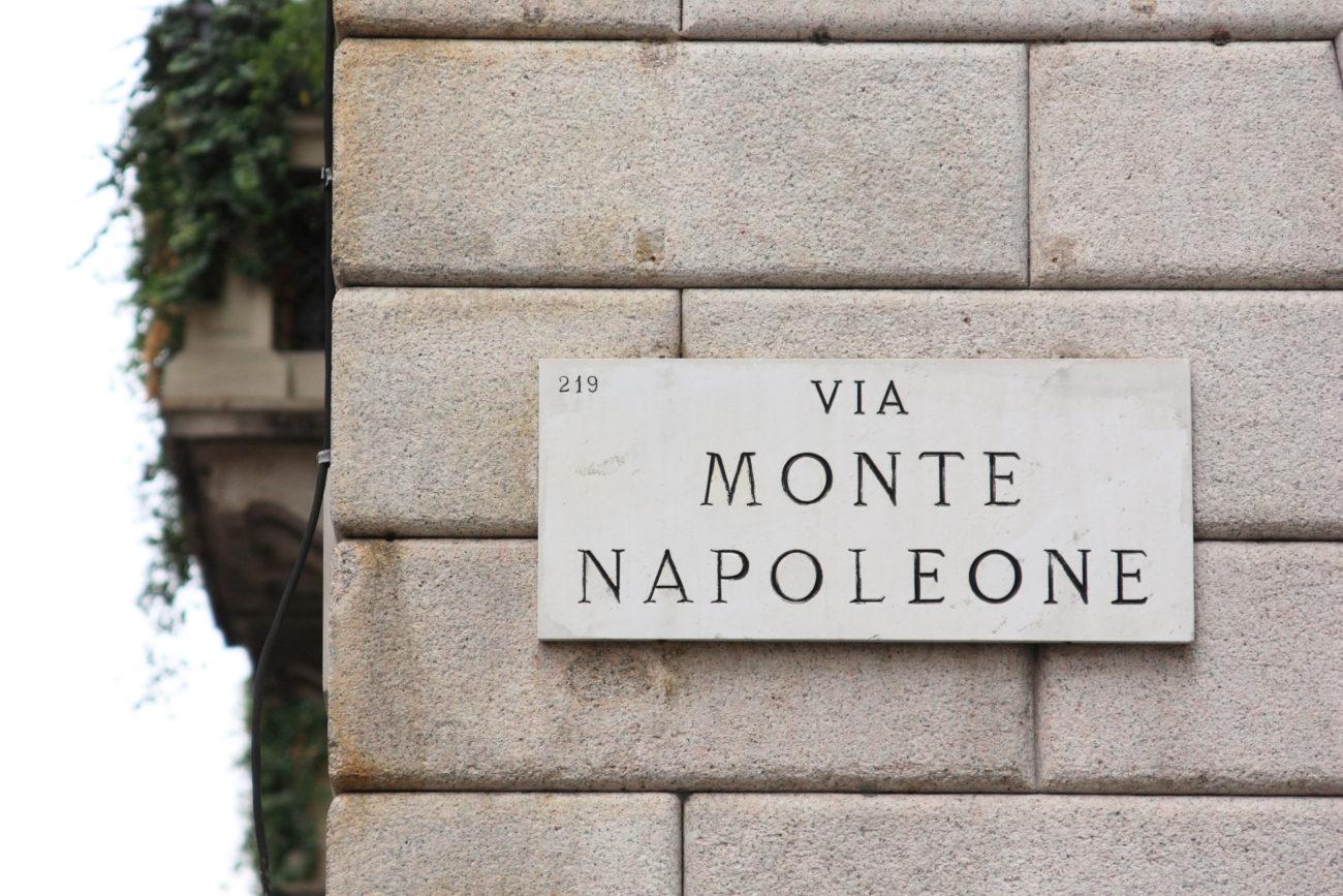 ViaMonte Napoleone – shoppinggata i Milano