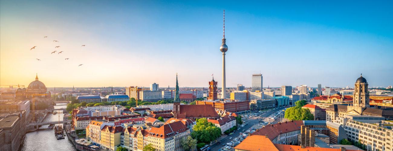 Soligt väder i Berlin
