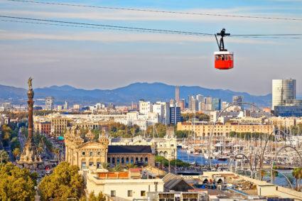 Teleférico del Puerto och Montjuïc